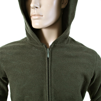 RMC Martin Ksohoh R6MPJK492NDG Wool Tsunami Wave Bottle Green Zipped Hoody Jacket REDM1050