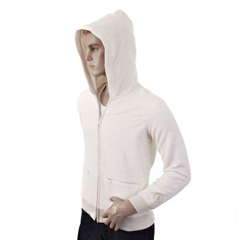 RMC Martin Ksohoh R6MPJK492WWH Regular Fit Wool Mix Tsunami Wave Ivory Zipped Hooded Jacket for Men REDM1038