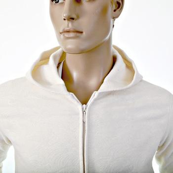 RMC Martin Ksohoh R6MPJK492WWH Regular Fit Wool Mix Tsunami Wave Ivory Zipped Hooded Jacket for Men REDM1038
