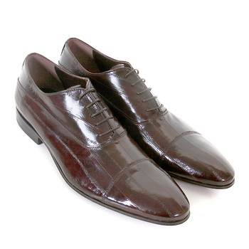 DiSanto brown lace up eel skin Pirlo shoes DISA0410