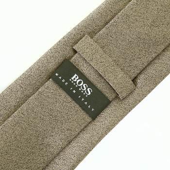Boss Black metallic brown 50227981 Hugo Boss silk tie BOSS1397