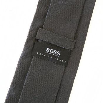 Boss Black charcoal grey 50228447 Hugo Boss silk tie BOSS1399