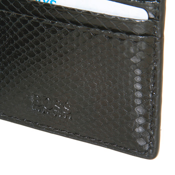 Boss Black Geobix boxed wallet and ID credit card holder gift set BOSS2912