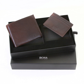 Boss Black Genis boxed wallet and ID credit card holder gift set BOSS1692