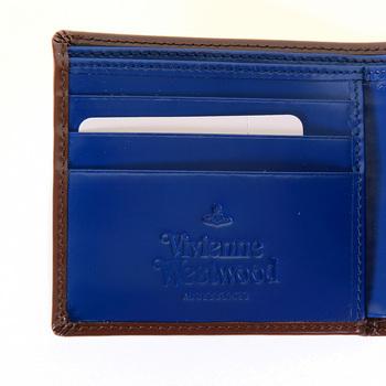 Vivienne Westwood dark tan leather boxed wallet  VW065 33017 VWST2024