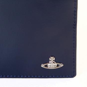 Vivienne Westwood navy blue leather boxed wallet  VW065 33017 VWST2026