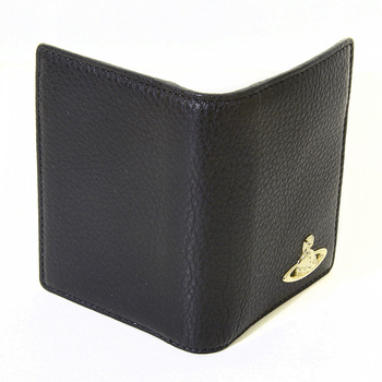 Vivienne Westwood black grain leather boxed card holder  Milano VWST2032