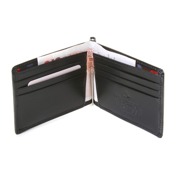 Vivienne Westwood black boxed leather wallet with clip VW065 33021 VWST2030