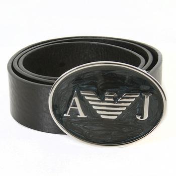 Armani Jeans black leather casual belt S6127 N9 AJM1196
