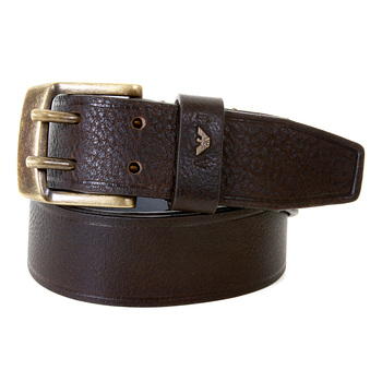Armani Jeans chocolate brown leather casual belt S6113 M5 AJM1197