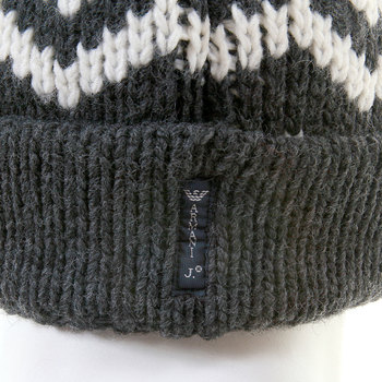 Armani Jeans mid grey knitted beanie hat S6406 P4 AJM1337