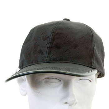 Armani Jeans black monogram baseball cap 06482 YS AJM1204