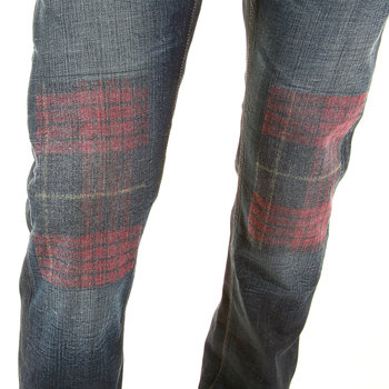 Vivienne Westwood Anglomania LV79ACQJ classic tartan denim jeans VWST2662