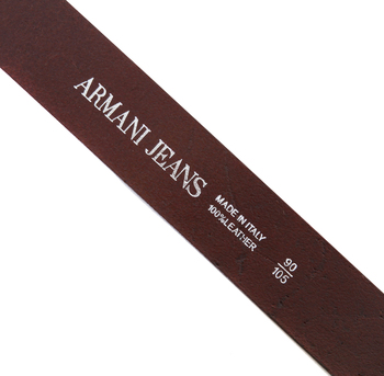 Armani Jeans mens brown leather casual belt T6127 G5 AJM0475