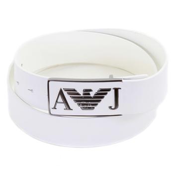 Armani Jeans mens white leather casual belt T6115 D6 AJM0478