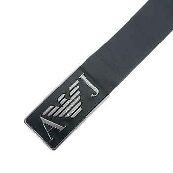 Armani Jeans mens black leather casual belt T6115 D6 AJM0477