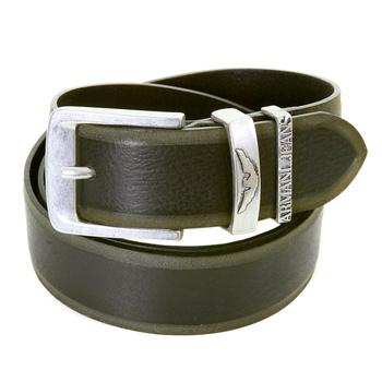 Armani Jeans mens black leather U6177 V2 casual belt AJM2491
