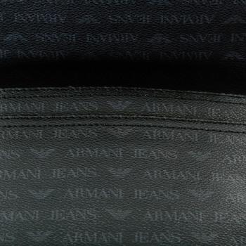 Armani Jeans mens black 06293 J4 logo messenger bag AJM2475