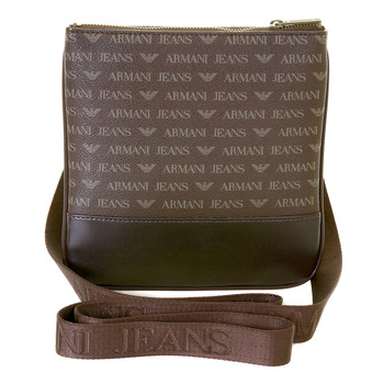 Armani Jeans mens brown logo small messenger bag AJM2472