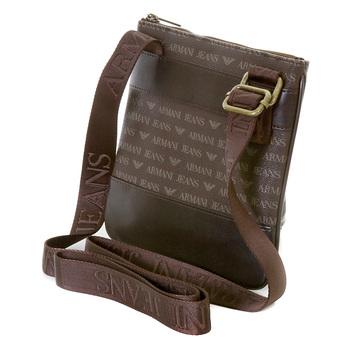 Armani Jeans mens brown logo small messenger bag AJM2472