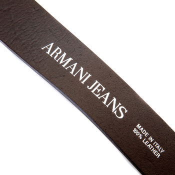 Armani Jeans mens brown leather 06V01 80 casual belt AJM2476