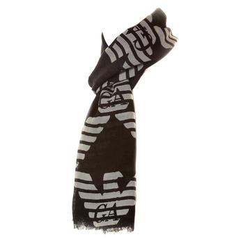 Armani Jeans mens black U6426 A2 woven scarf AJM2503