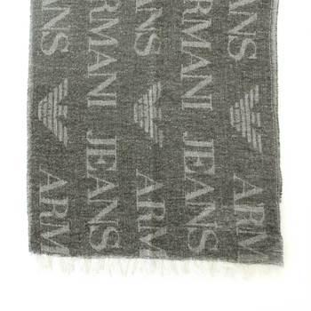 Armani Jeans mens black U6410 N2 woven scarf AJM2505