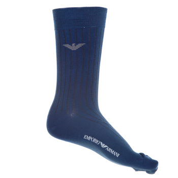 Emporio Armani mens ribbed teal 301002 3A101 socks EAM2549