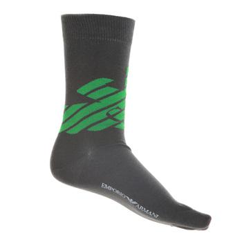 Emporio Armani mens grey logo 301002 3P275 socks EAM1627