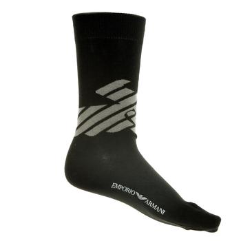 Emporio Armani mens black logo 301002 3P275 socks EAM1624