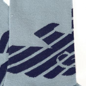 Emporio Armani mens sky blue logo 301002 3P275 socks EAM1626