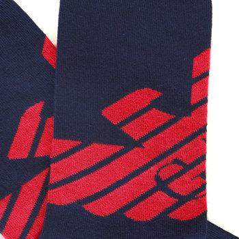 Emporio Armani mens navy blue logo 301002 3P275 socks EAM1628