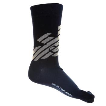 Emporio Armani mens navy blue logo 301002 3P275 socks EAM1625