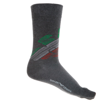 Emporio Armani mens grey logo 301002 3A745 socks EAM2546