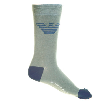 Emporio Armani mens smoke grey logo 269304002 socks EAM1623