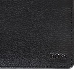 Hugo Boss Black mens Gallio 50255763 black leather wallet gift set BOSS3308
