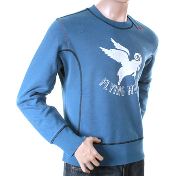 Ijin mens blue flying high logo crew neck sweatshirt IJIN2362