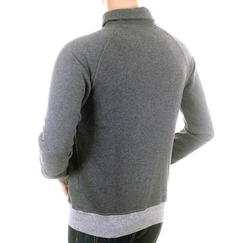 Hugo Boss Orangs Label mens grey 50228482 Wordly shawl collar sweatshirt BOSS1568
