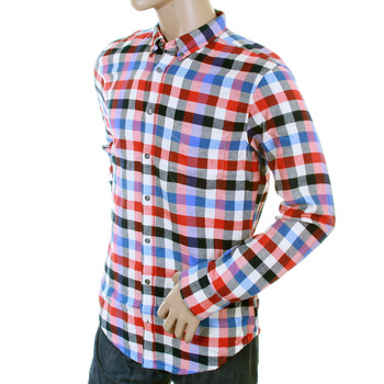 Hugo Boss Orange Label mens cube check 50233112 EquatorE shirt BOSS2867
