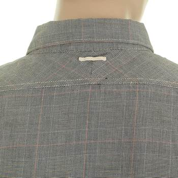 Scotch & Soda mens grey prince of wales check 1204 09 20027 shirt SCOT1752