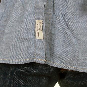 Scotch & Soda mens denim blue 1204 09 20027 studded button shirt SCOT1738