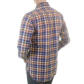 Scotch & Soda mens blue check 1204 08 20012 antique wash oxford shirt SCOT1736