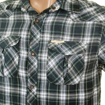 Scotch & Soda mens green navy and white check 1204 09 20042 worker shirt SCOT1869
