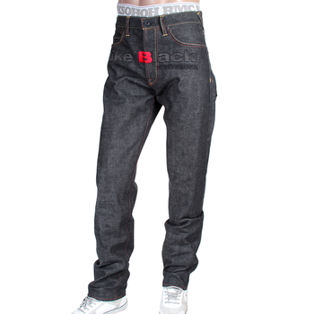 RMC X 4A Version 5 Mens 1001 Model Embroidered Like Black Monster Rider FM Union Indigo Raw Denim Jeans RMC1942
