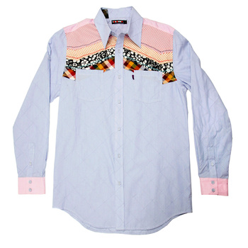 Yoropiko Mens Long Sleeve Regular Fit Diamond Jaquard Soft Pointed Collar Shirt YORO0244A