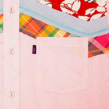 Yoropiko Pink Diamond Jaquard Long Sleeve Regular Fit Shirt with Soft Pointed Collar for Men YORO0260