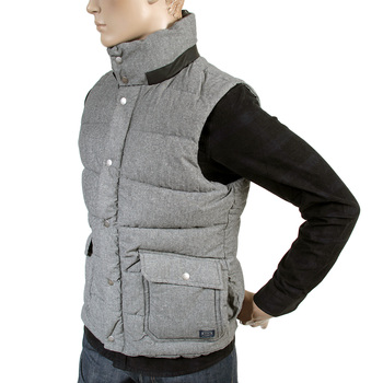 Scotch & Soda mens grey marl 1306 06 30312 padded gillet SCOT2163