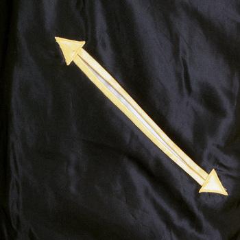Sugarcane Black and Gold TT11781 YOKOTA AB Fully Reversible Suka Jacket for Men TOYO4232