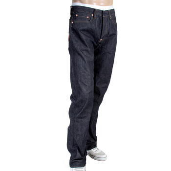 RMC Jeans Mens Indigo Logo Hand Embroidered 1001 Model Japanese Raw Red Line Selvedge Denim Jeans RMC3744