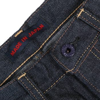 RMC Jeans Mens 1011 Indigo Slim Cut Embroidered Carp Japanese Selvedge Denim Jeans RMC3746